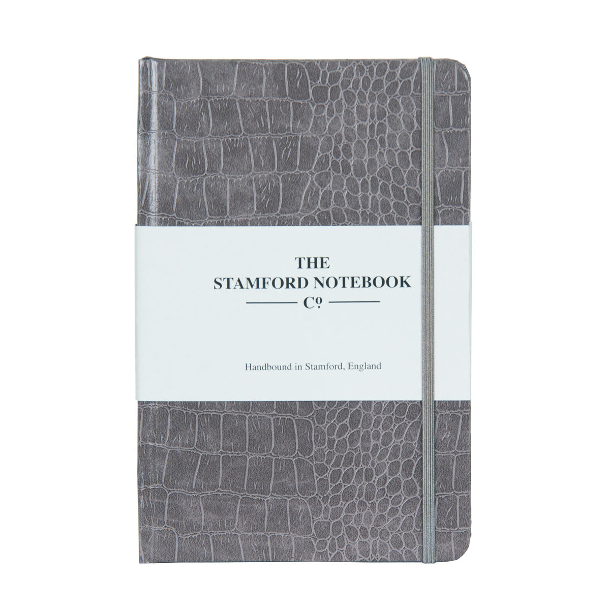 Mock Croc Embossed Notebook Grey