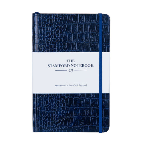 The Mock Croc Embossed Notebook Navy