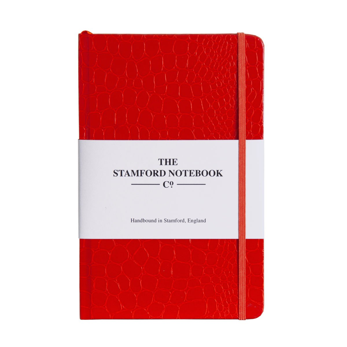 Mock Croc Embossed Notebook Orange