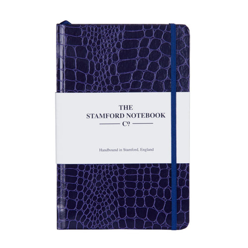 Mock Croc Embossed Diary Purple