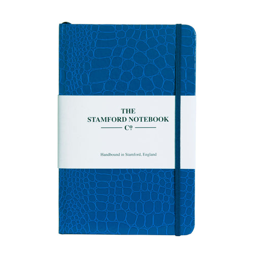 The Mock Croc Embossed Notebook Royal Blue