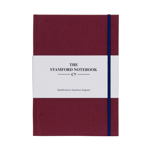 Burgundy Cotton Cloth Notebook