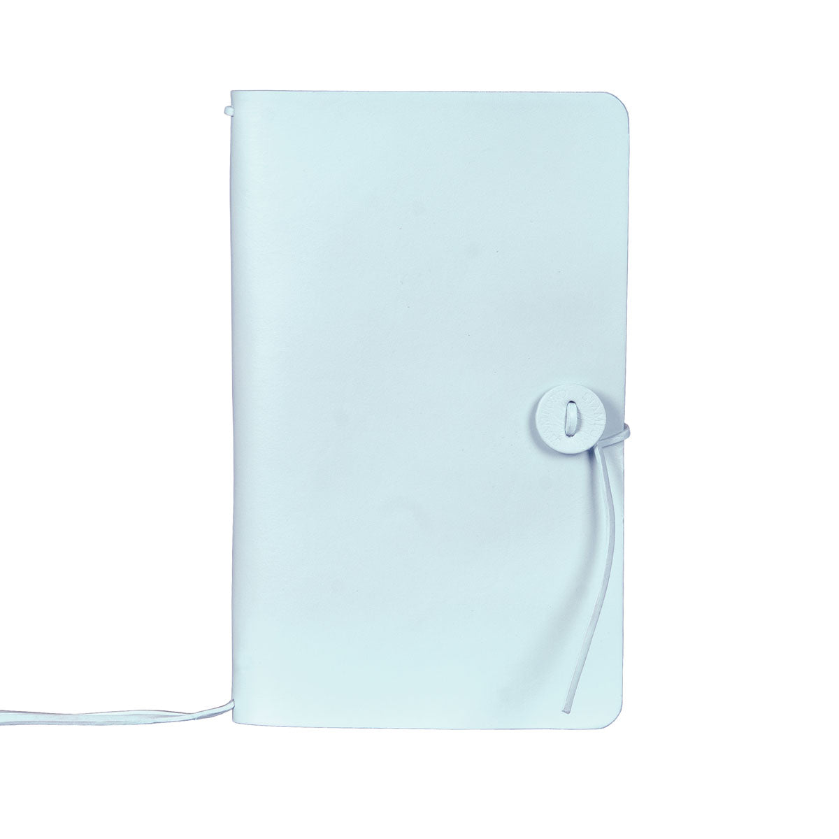 Baby Blue refillable leather travellers journal
