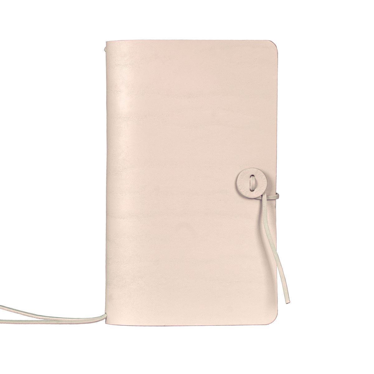 champagne refillable leather travellers journal
