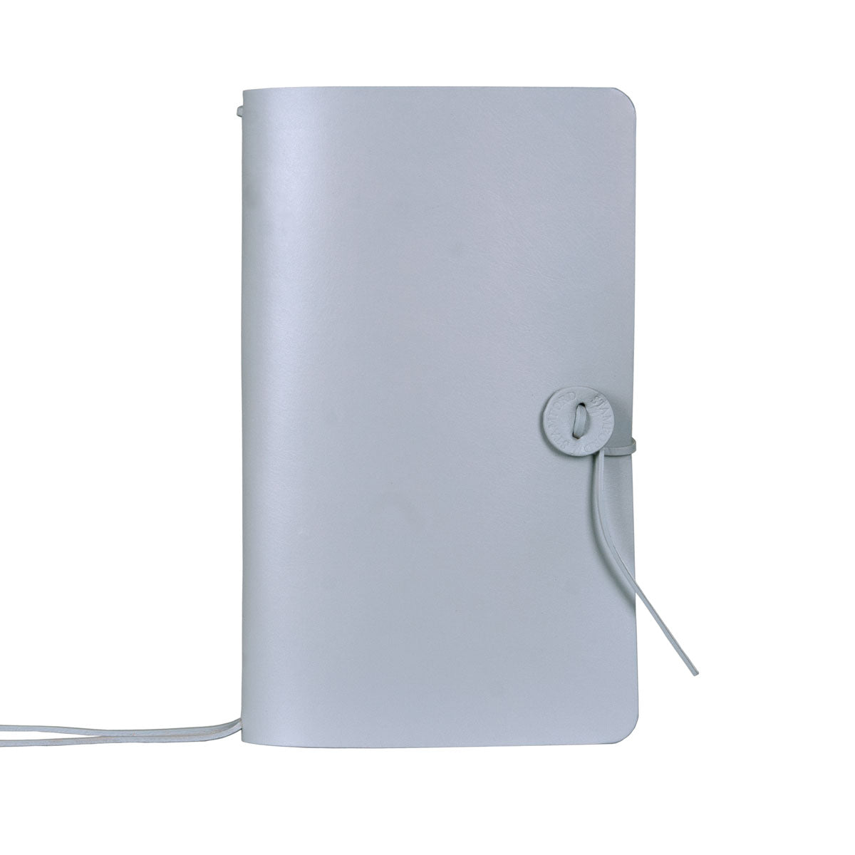 Mid Grey refillable leather travellers Journal