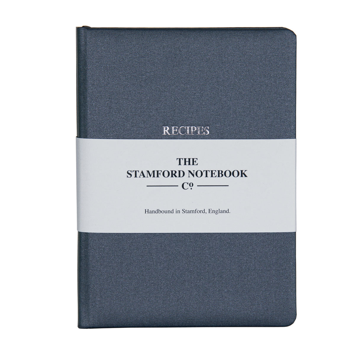 Image of Steel Grey Buckram Recipe Journal