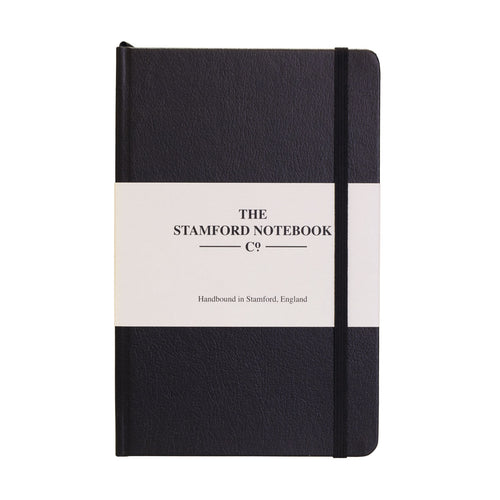 Black recycled leather handbound notebook