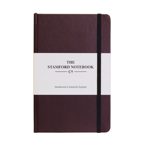 Burgundy recycled leather handbound notebook