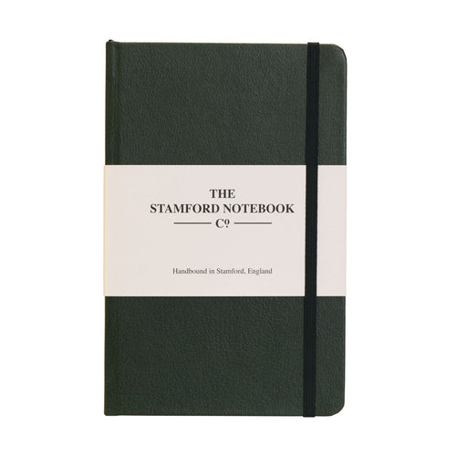 Green recycled leather handbound notebook