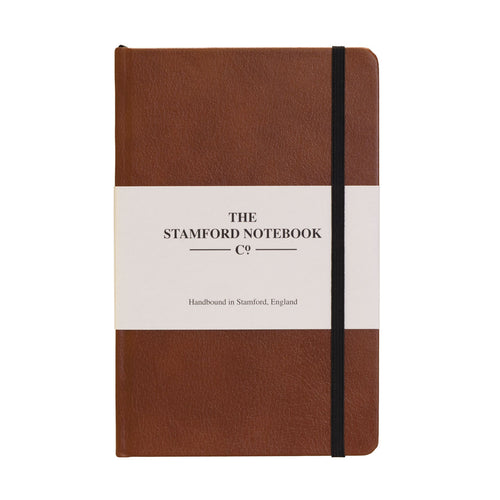 mid brown recycled leather handbound notebook