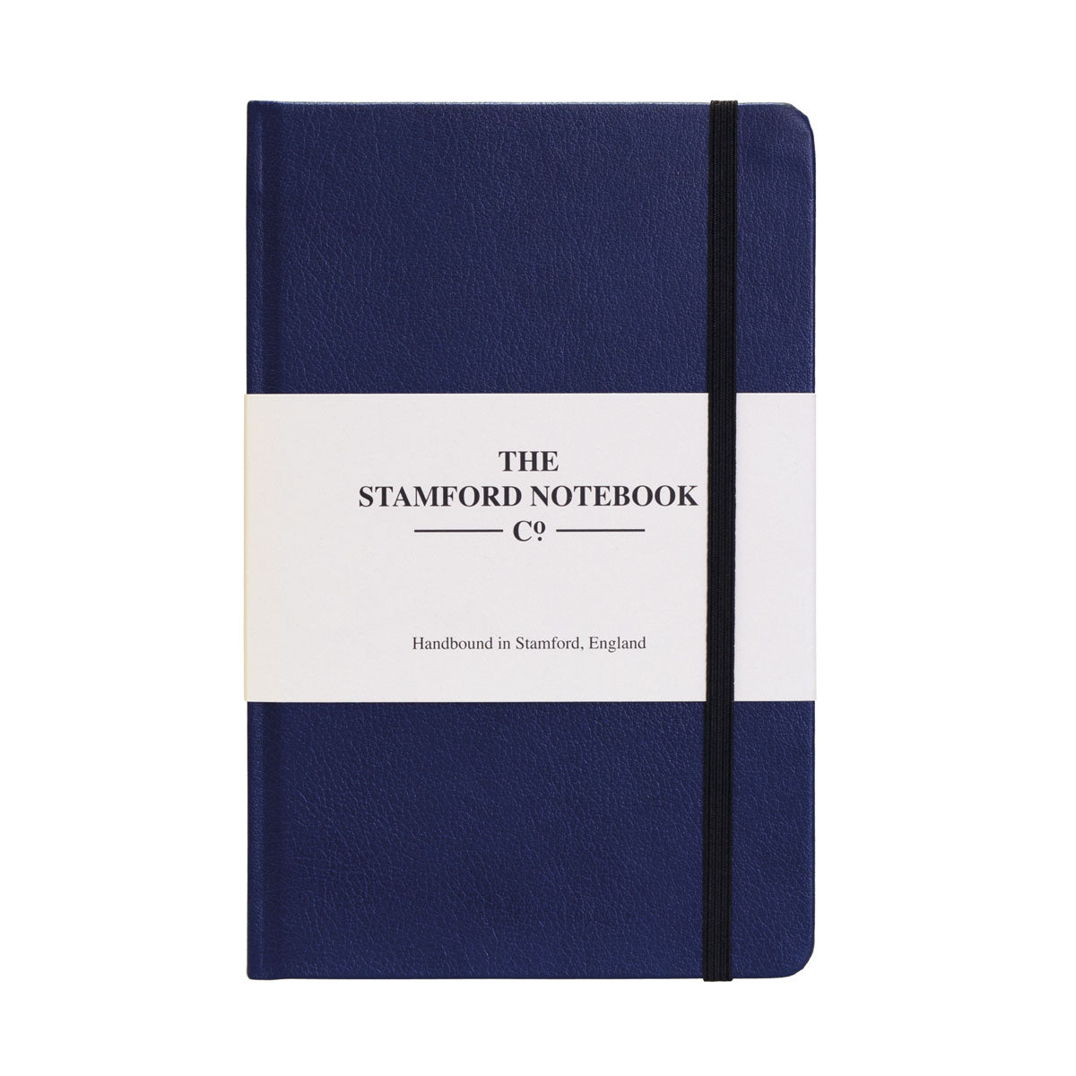 royal blue recycled leather handbound notebook
