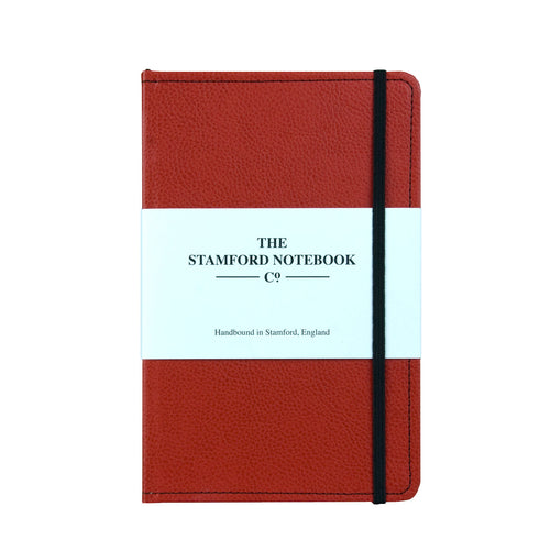 Stitched Leather Notebook - Red