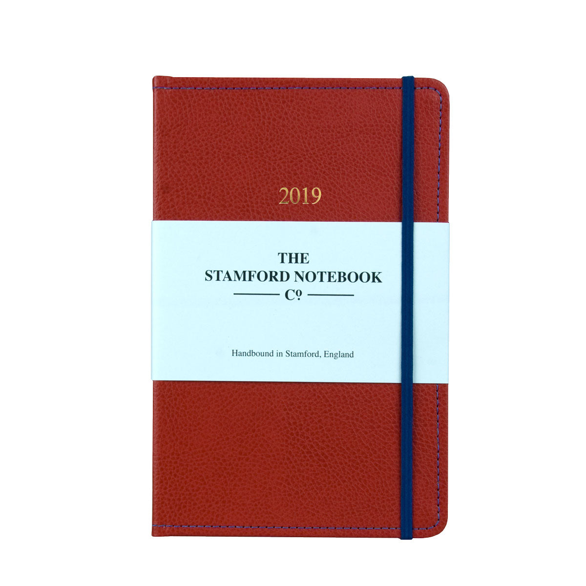 Stitched Leather Diary - Red