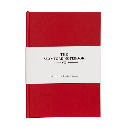 the shimmer notebook hot tomato red