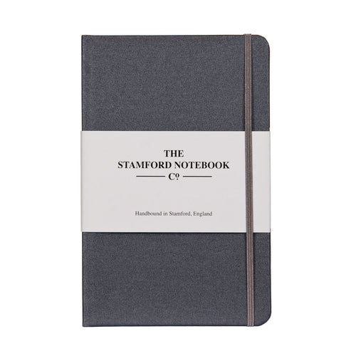 Metallic Steel Grey Buckram Notebook