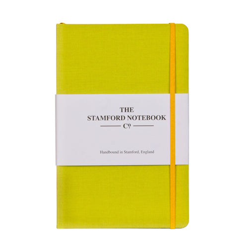 Sunny Lime Woven Cloth Notebook