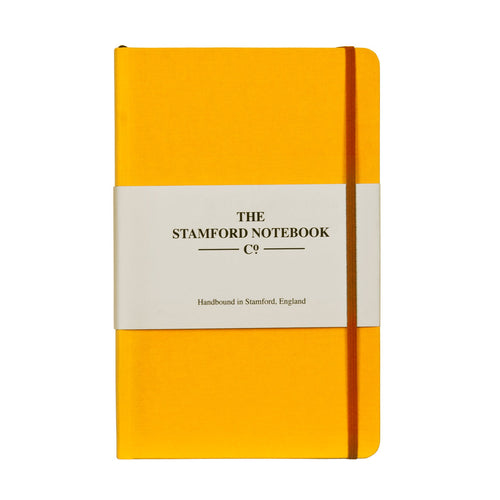 Sunshine Yellow Woven Cloth Notebook