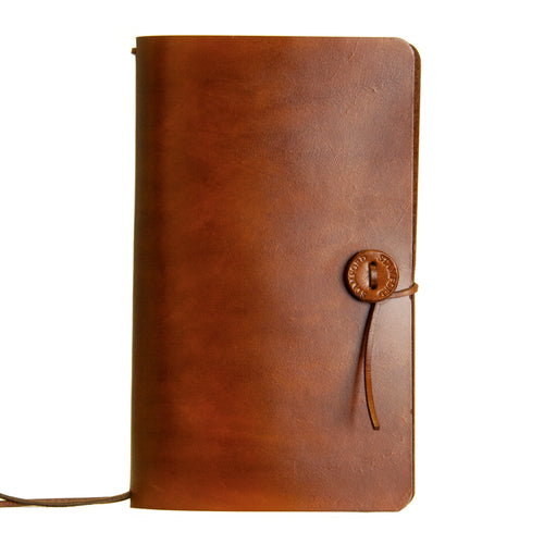 The Travellers Journal Classic Range - Mid Brown