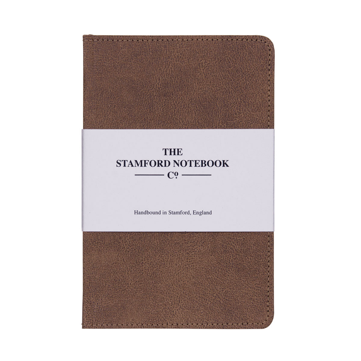 Vintage stitched Recycled Leather Notebook in Chestnut