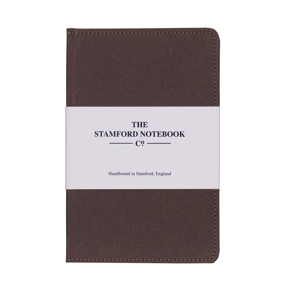 Vintage stitched Recycled Leather Notebook in Chocolate