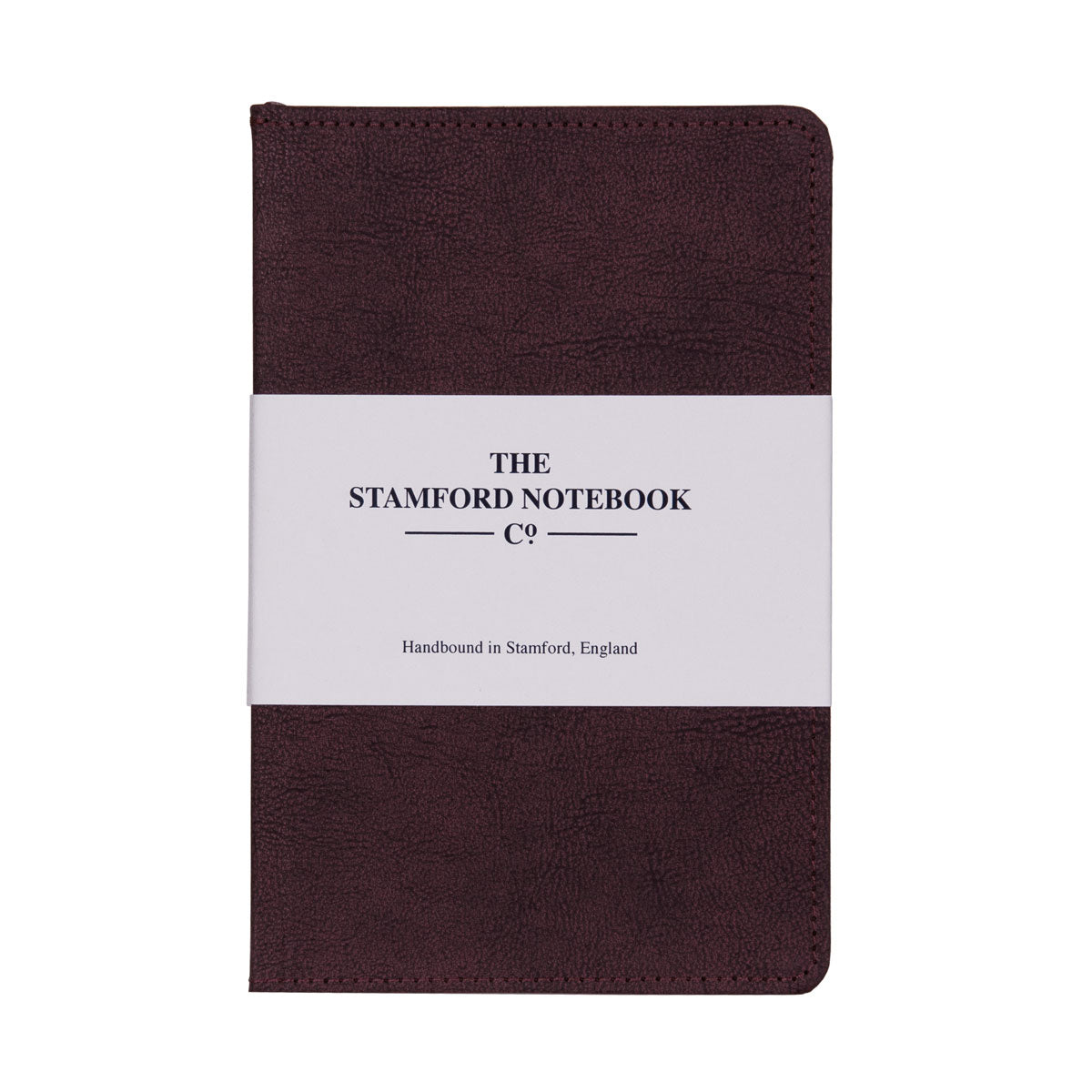 Vintage stitched Recycled Leather Notebook in Plum