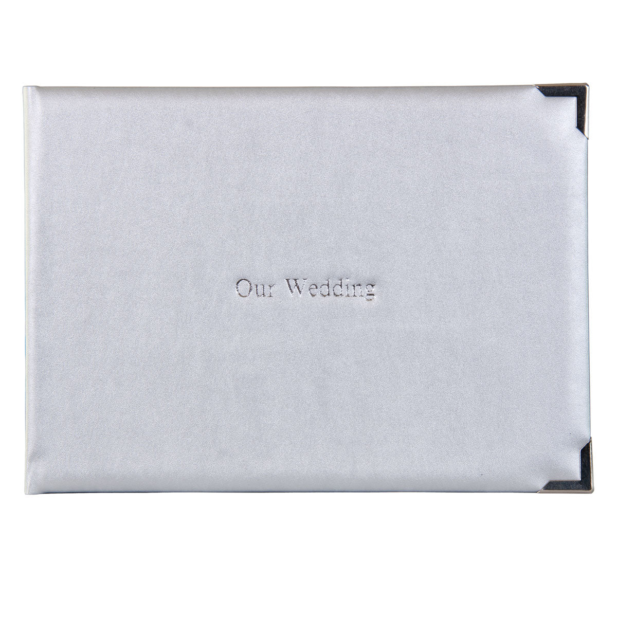 Argent Silver Luxury Wedding Guest Book