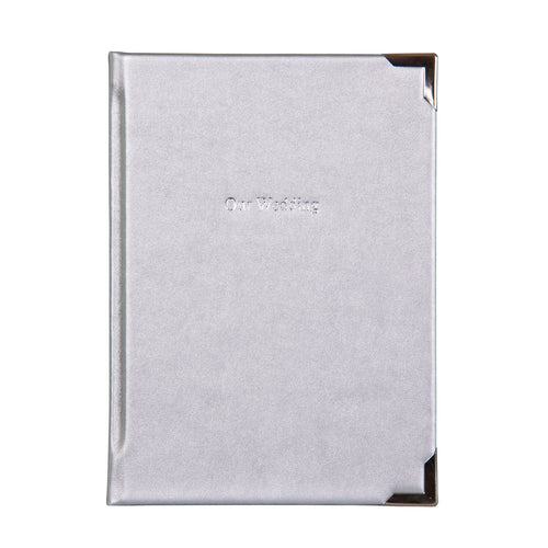 Luxury Wedding Planner covered in Argent Silver Cloth