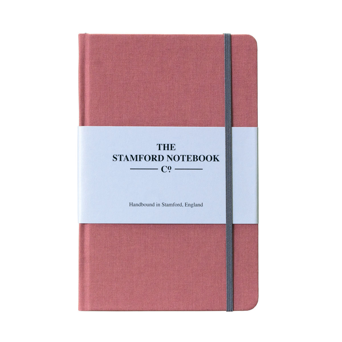 Rose pink woven cloth handbound notebook