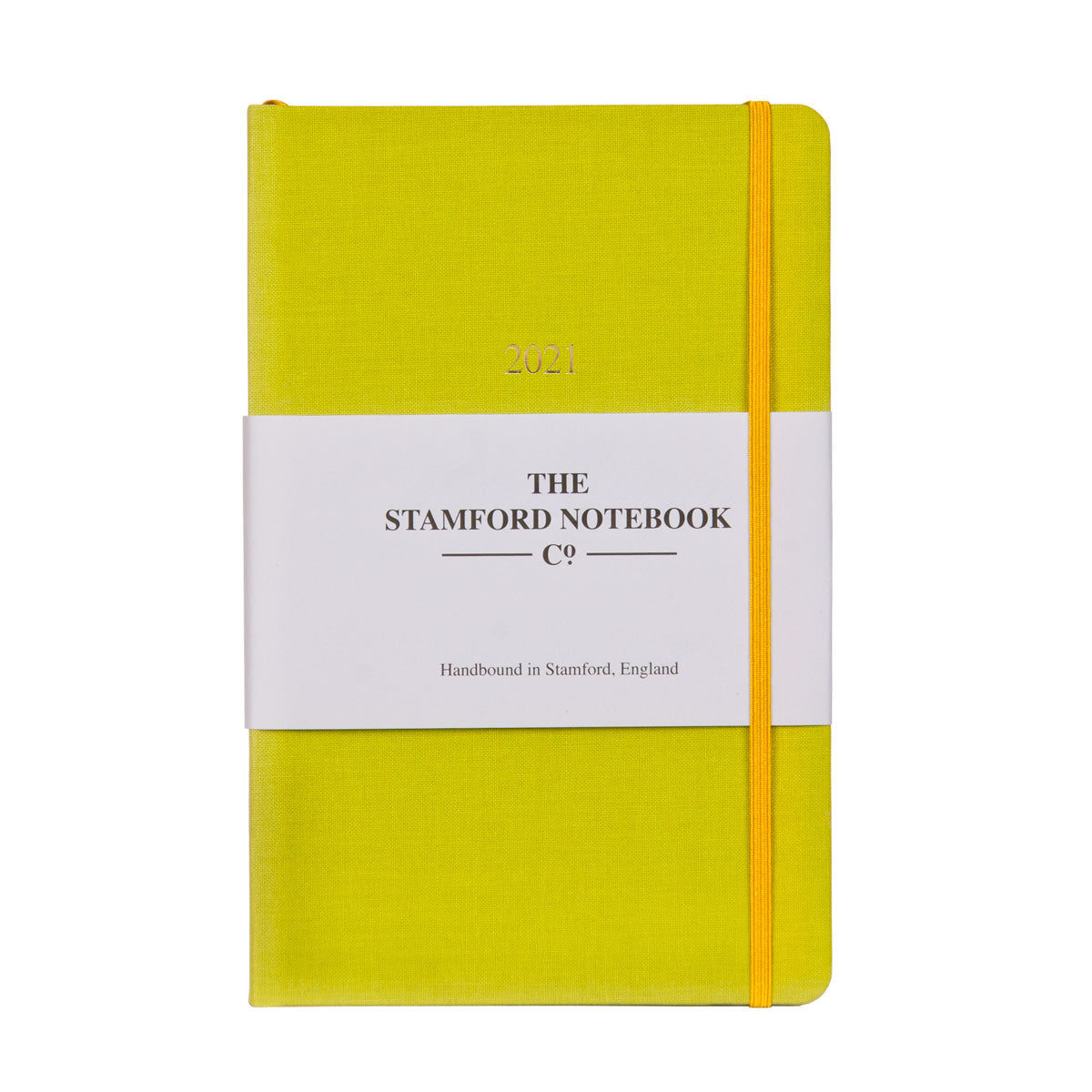 The Woven Cloth Bold and Bright Diary - Sunny Lime