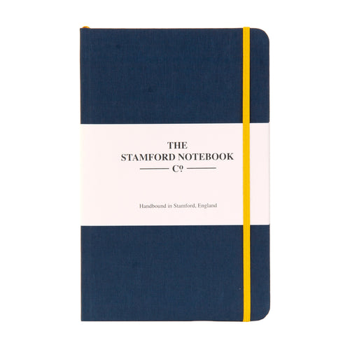 Limited Edition Woven Cloth Notebook in Navy