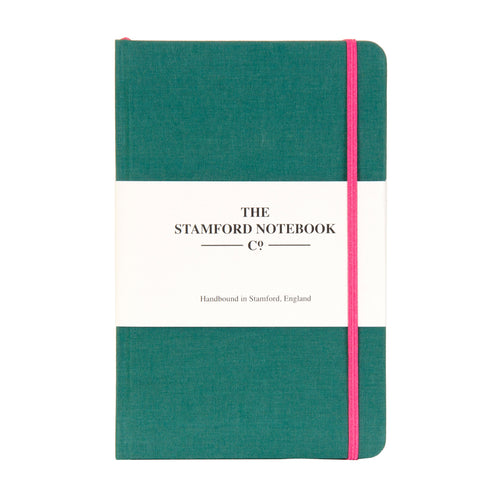 Limited Edition Ocean Green Woven Cloth Notebook