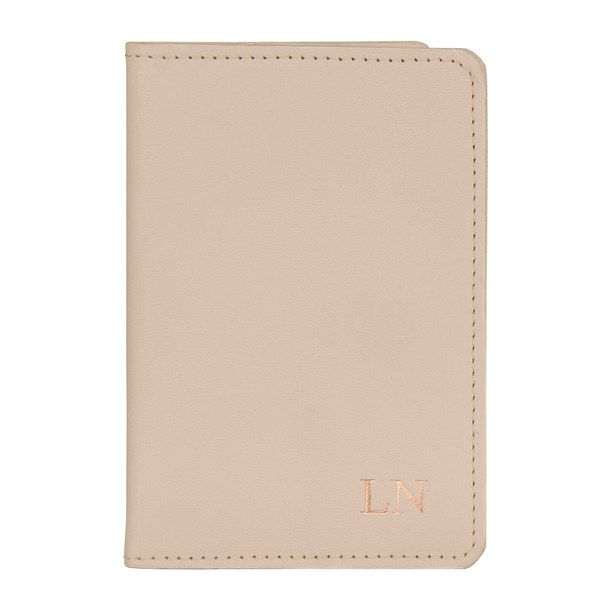 Leather Passport Holder Champagne, Part of the Luxury Leather Travel Set