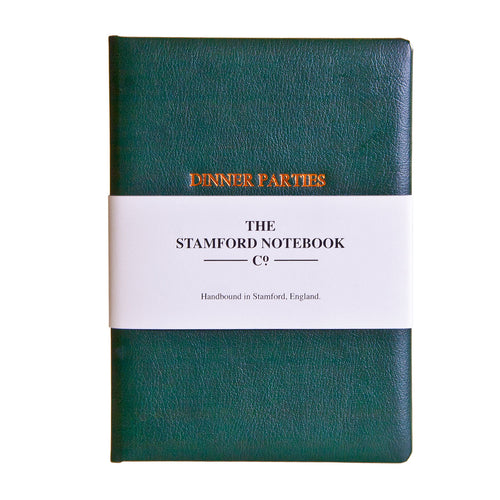 Leather Dinner Party Book - Green