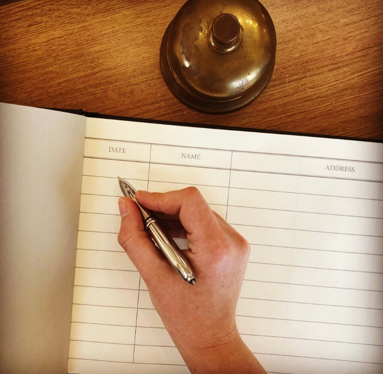 Internal Image Of Visitor Book