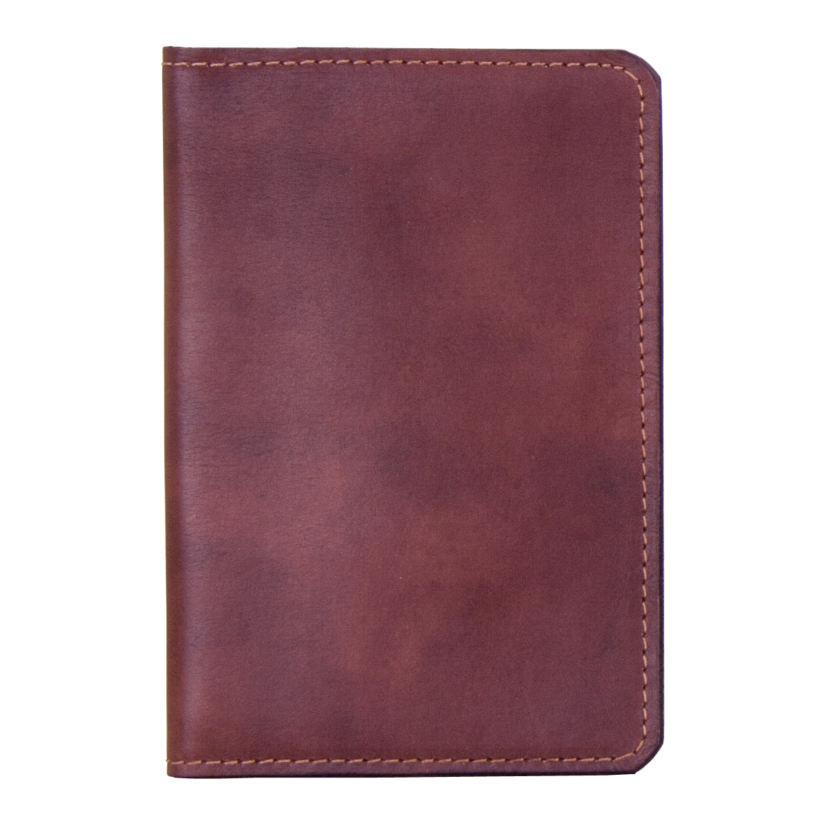 Leather Passport Holder Mid Brown, Part of the Luxury Leather Travel Set
