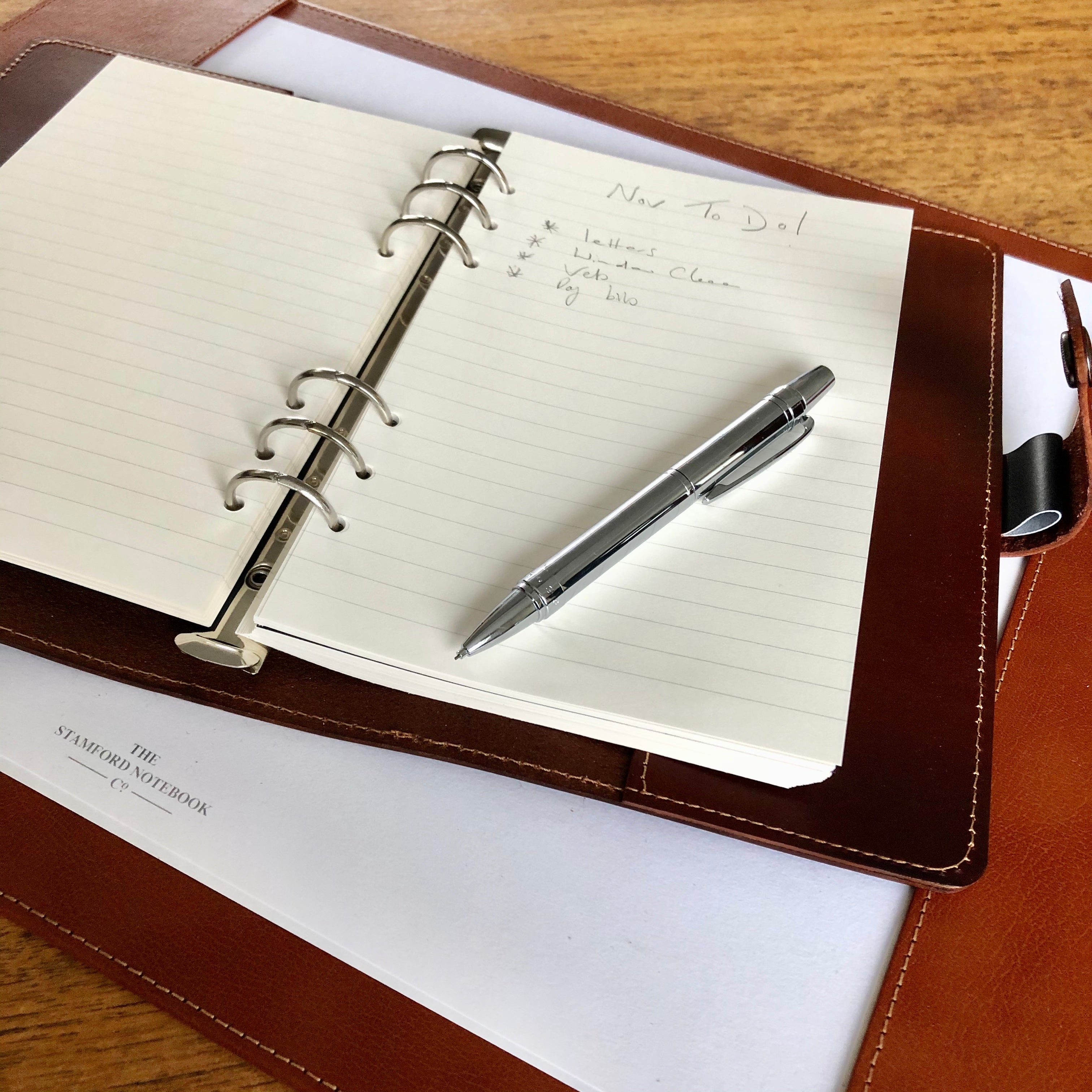 The Burghley Leather Organiser - Mid Brown