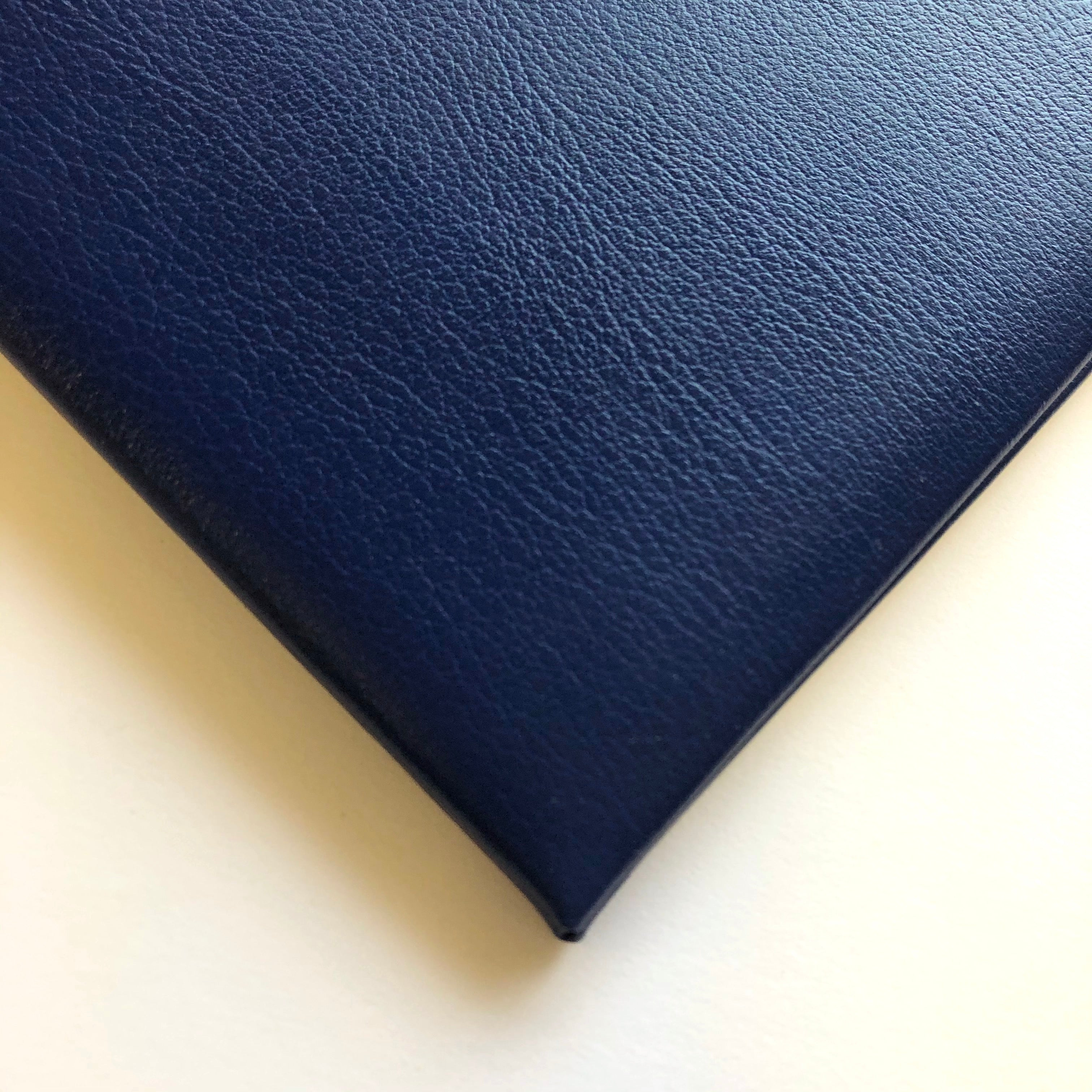 Swatch of Royal Blue Leather Visitors Book