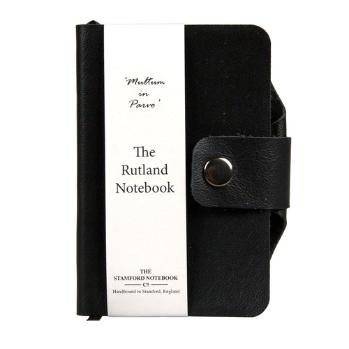Black luxury leather handbound rutland diary