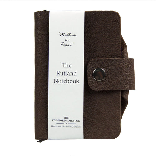 dark brown luxury leather handbound rutland diary