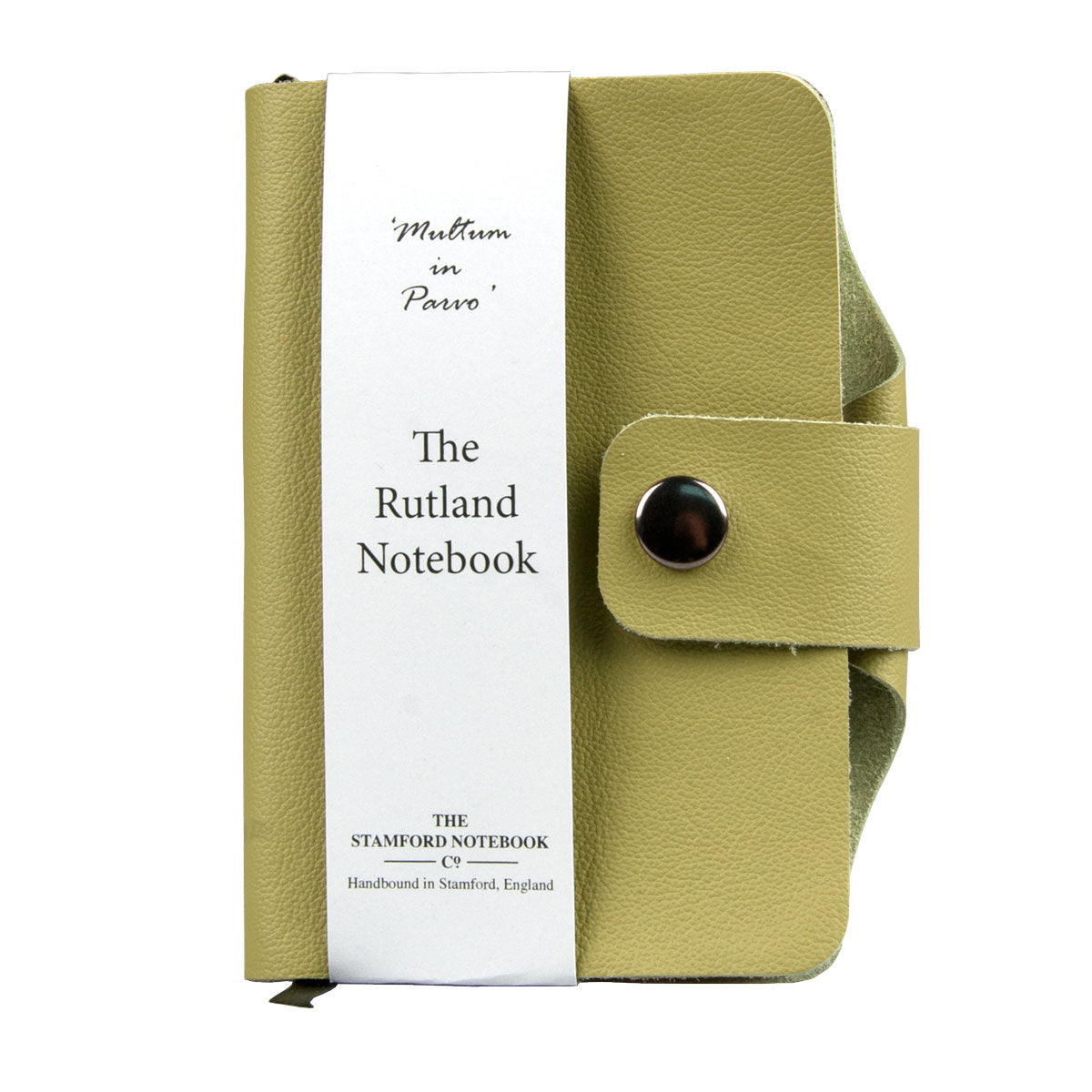 Pistachio handbound Luxury leather rutland notebook