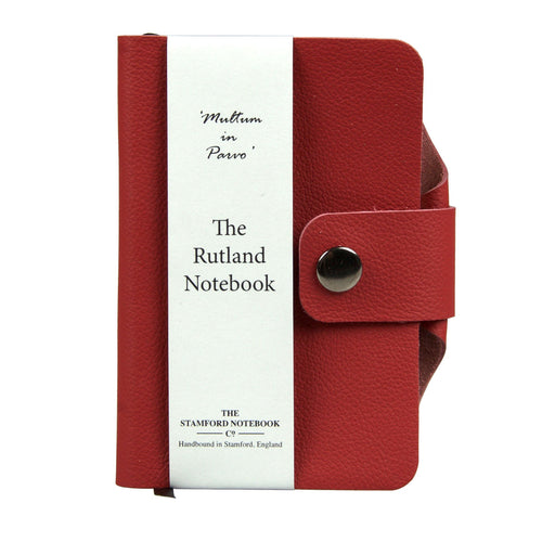 poppy red luxury leather handbound rutland diary