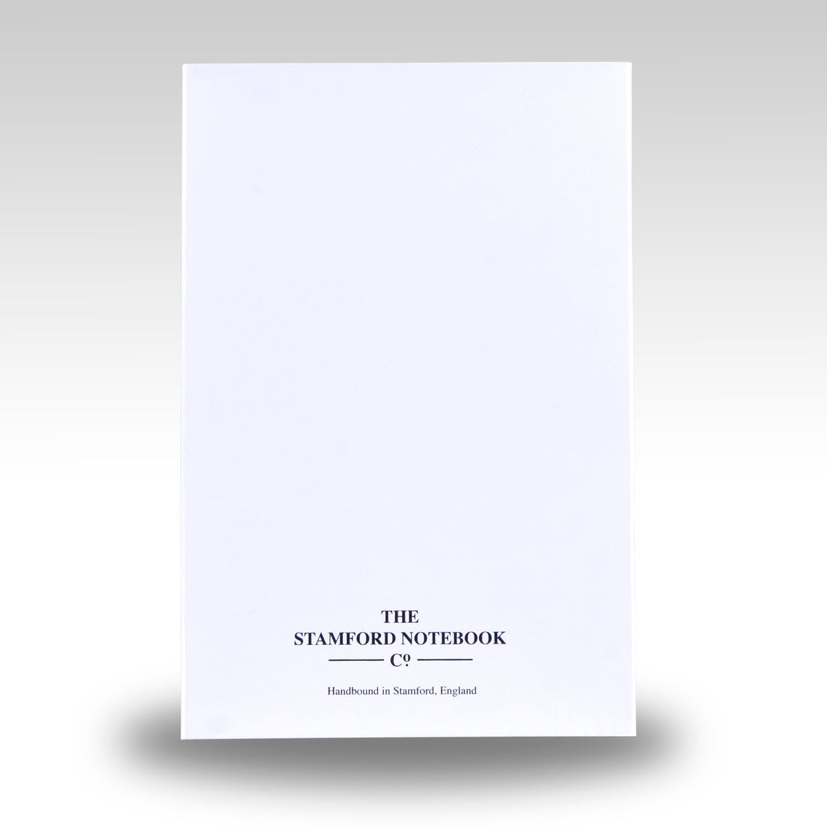 white recyclable card slipcase and tray supplied with notebook