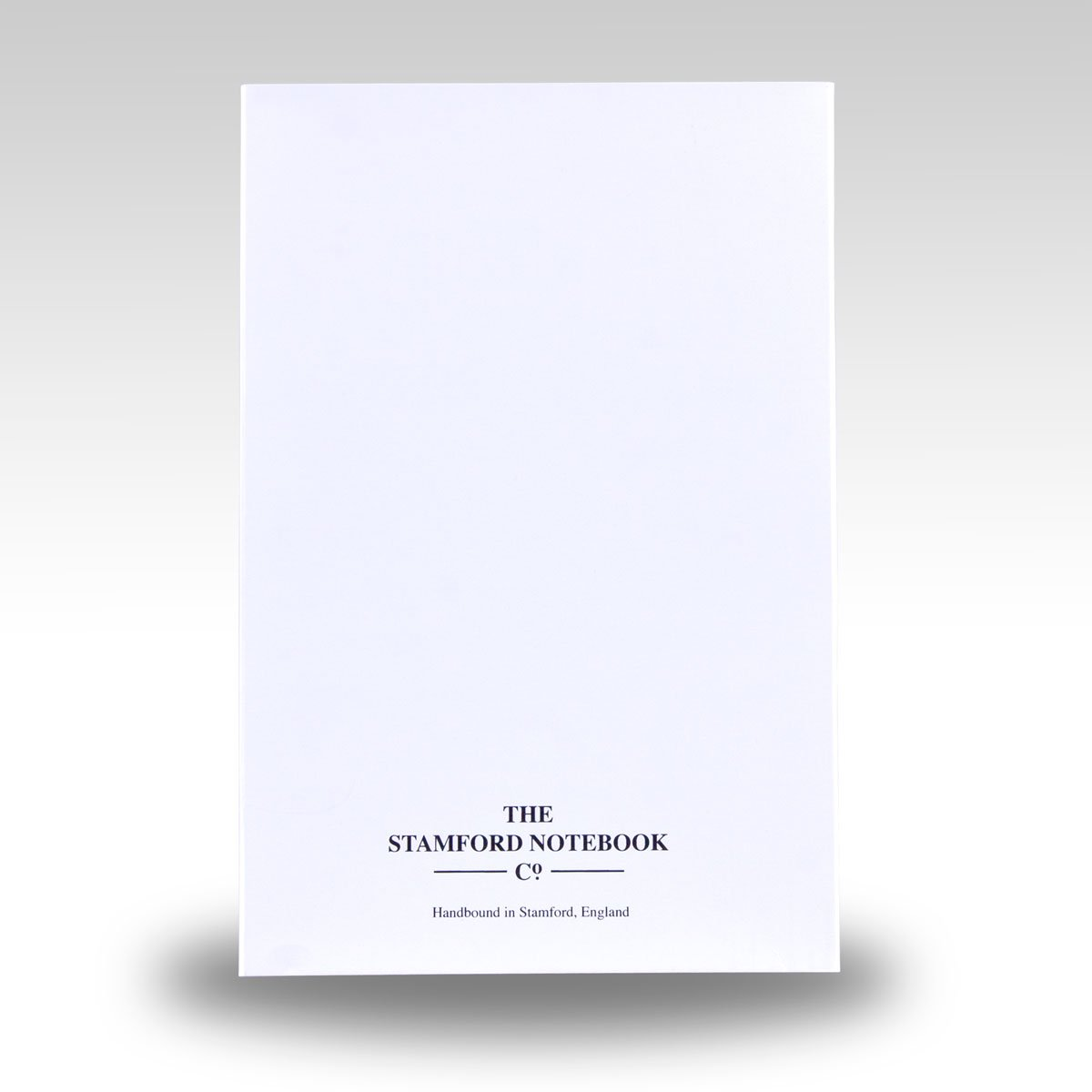 white recyclable card slipcase supplied with notebook