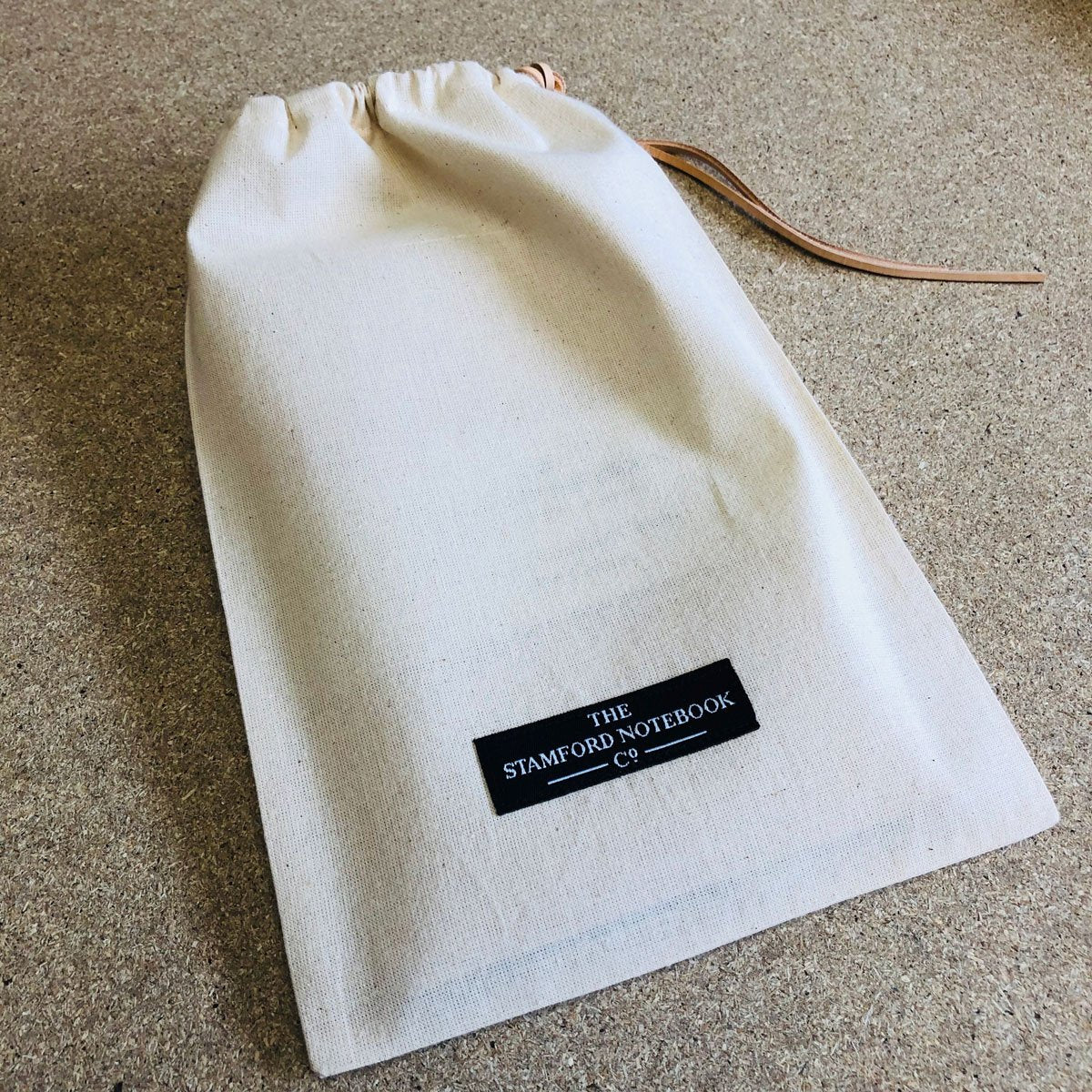 travellers journal in calico bag