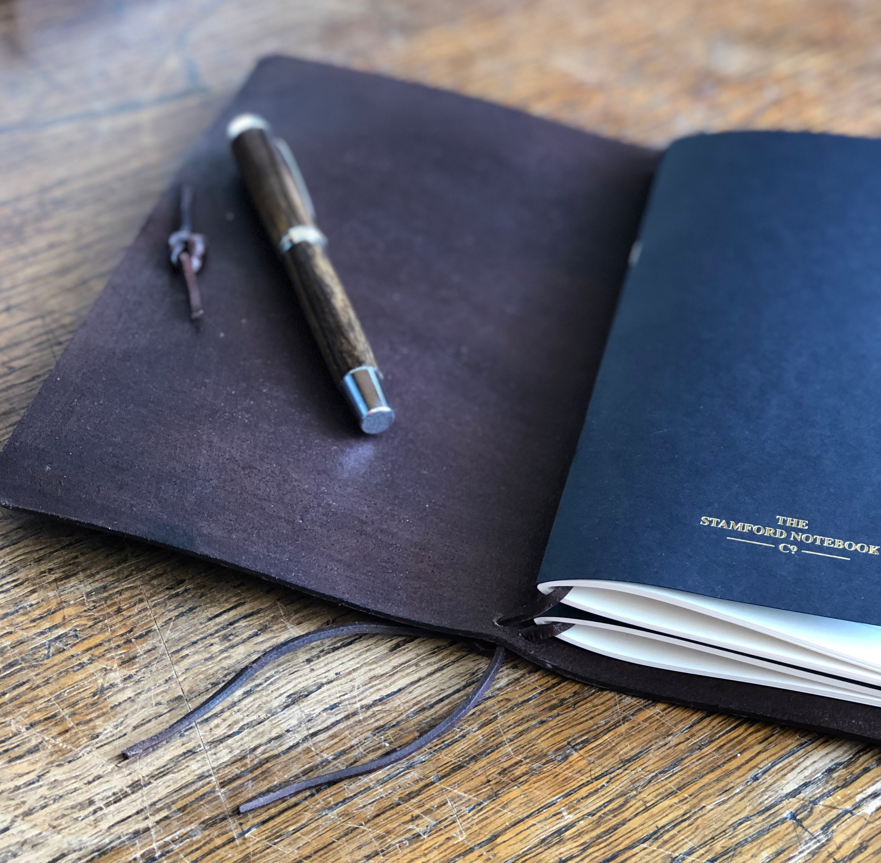 Internal Image Leather Refillable Travellers Journal