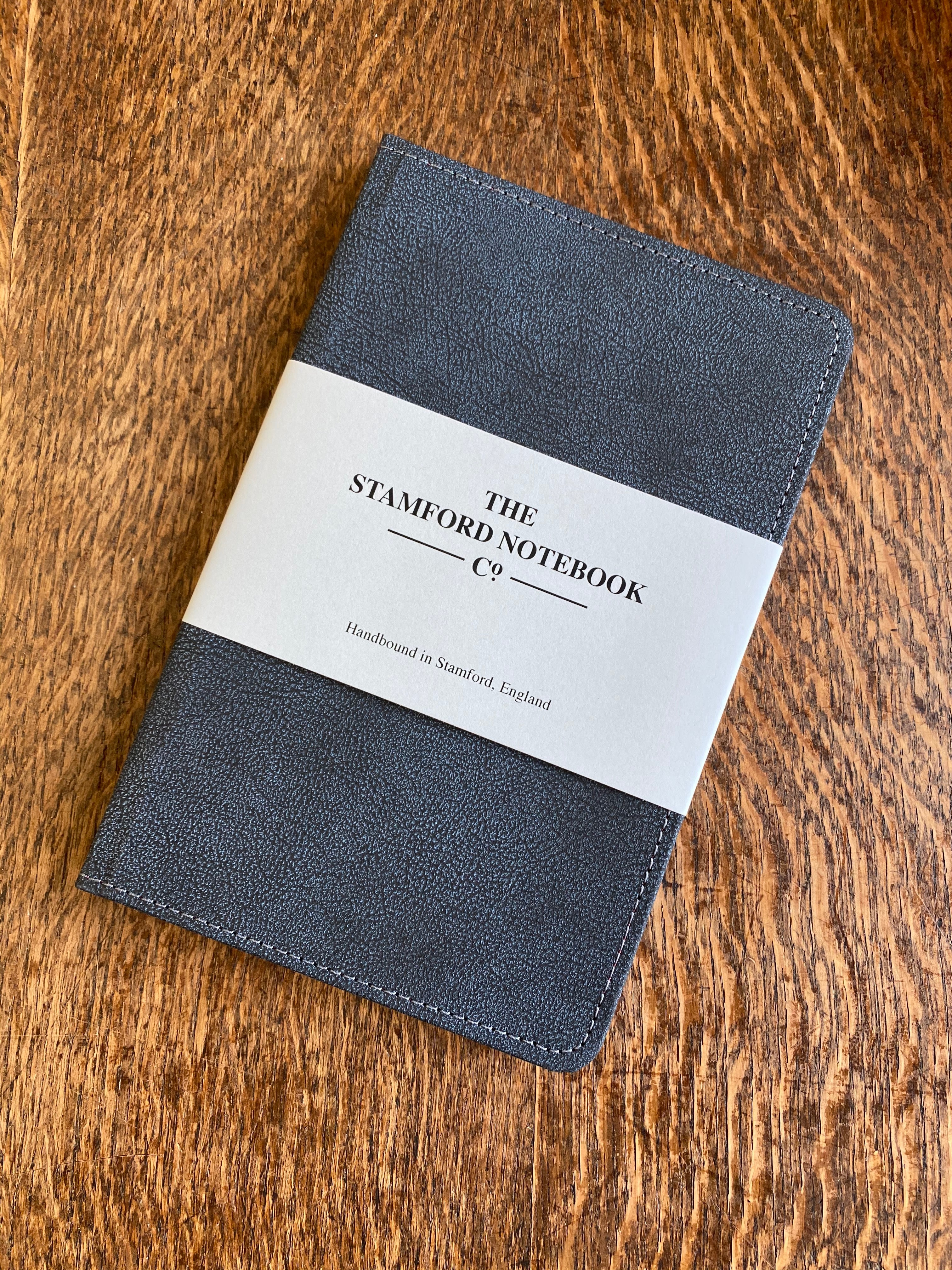 Vintage Recycled Leather Notebook in Petrol