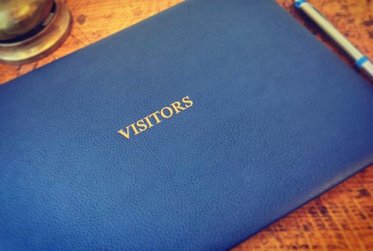 Leather Visitor Book