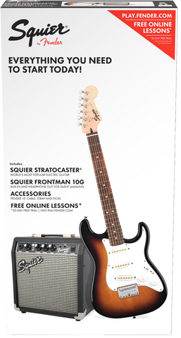 Fender Squier Strat Pack SS Short-Scale Electric Guitar Pack Sunburst