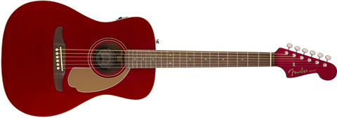 Fender Malibu Player, Candy Apple Red Electro Acoustic Guitar