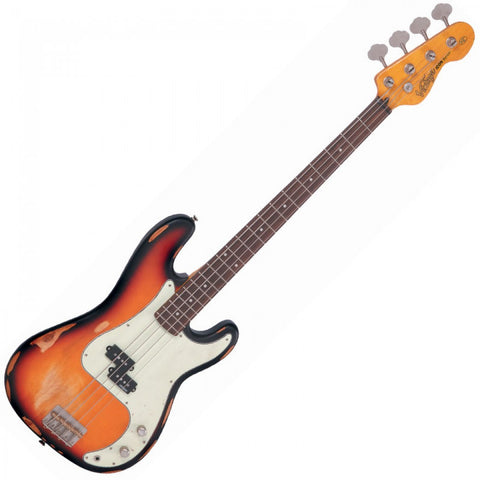 Vintage Icon V4 Bass Distressed Sunset Sunburst
